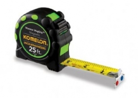 Engineer and inch Tape, Komelon, Monster Max-Grip 25' X 1""