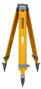 Sokkia Wood Tripod, Wide Frame, Screw Clamp, Surveying, Construction