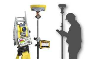 Geomax A5/ 5 second Robotic Total Station, 500m prisim-less