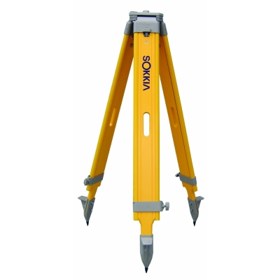 Sokkia or Topcon Wood Tripod with Screw Clamp  Wide Frame yellow