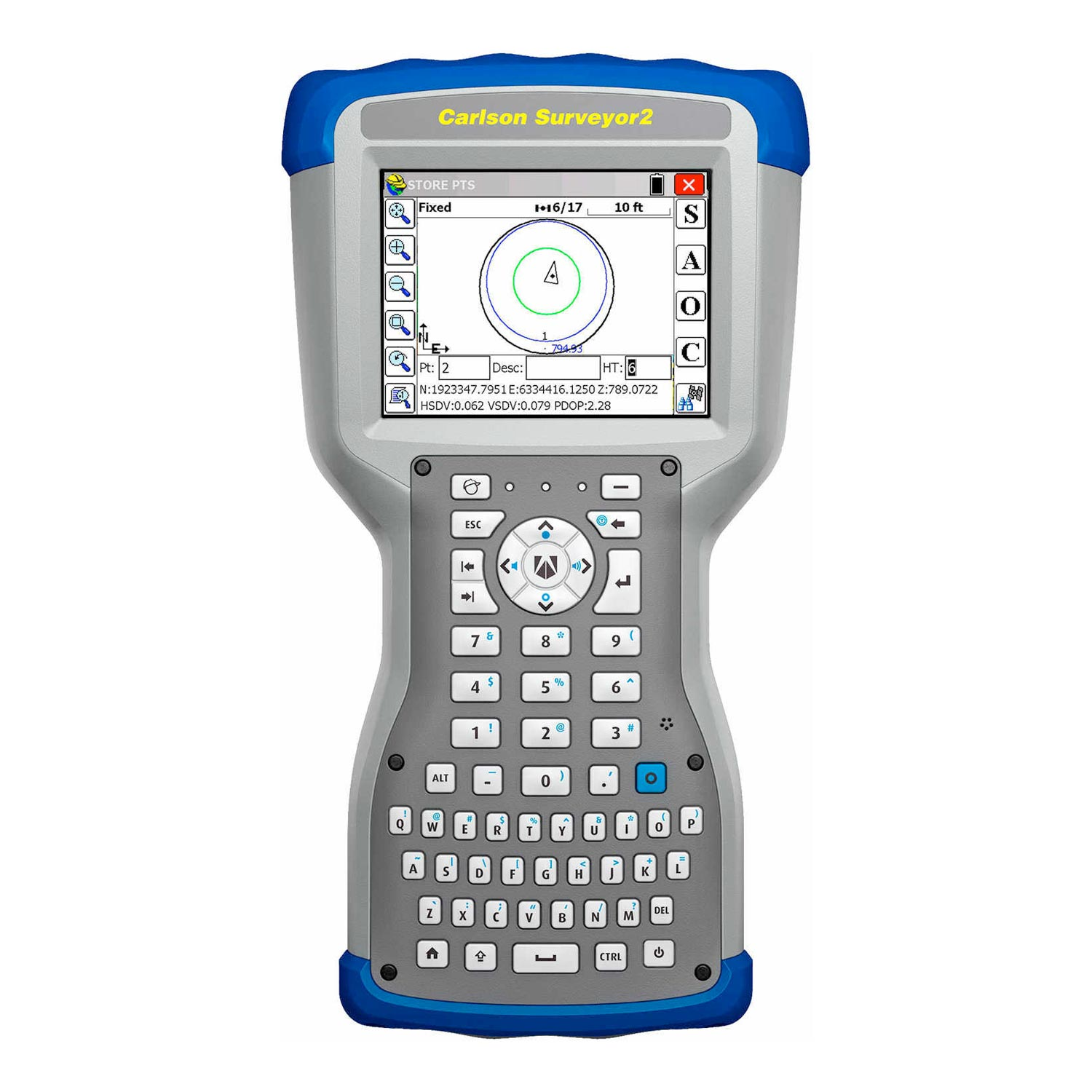 Carlson Surveyor2 Data Collector,  SurvCE Total Station software