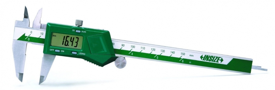 "INSIZE 1108-300 Digital Caliper, 0-12"", inch/metric w/case"