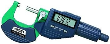 "INSIZE 3109-25E, 0-1 inch Electronic Outside Micrometer, 0.00005"" Graduation"
