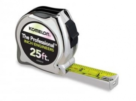 Pocket tape, Komelon, Professional Chrome Inch Engineer 25' X 1""