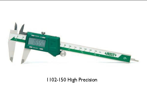 "INSIZE Fractional Electronic Digital Caliper, reading to mm, inch, and Fractional inch 1/128"", protected against dust and water"