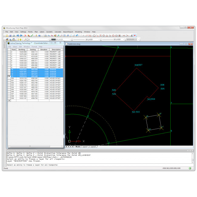 Microsurvey Point Prep Construction Layout Software