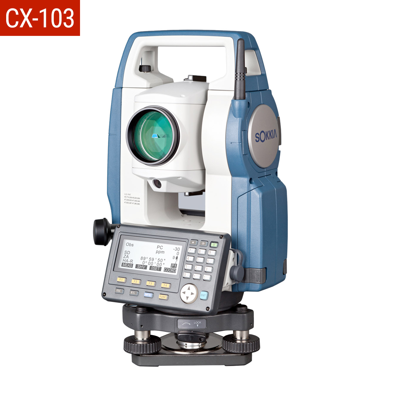 "Sokkia CX-103 3"" Total Station reflectorless,"